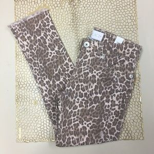 Children's Place Girls leopard distressed jeans 6